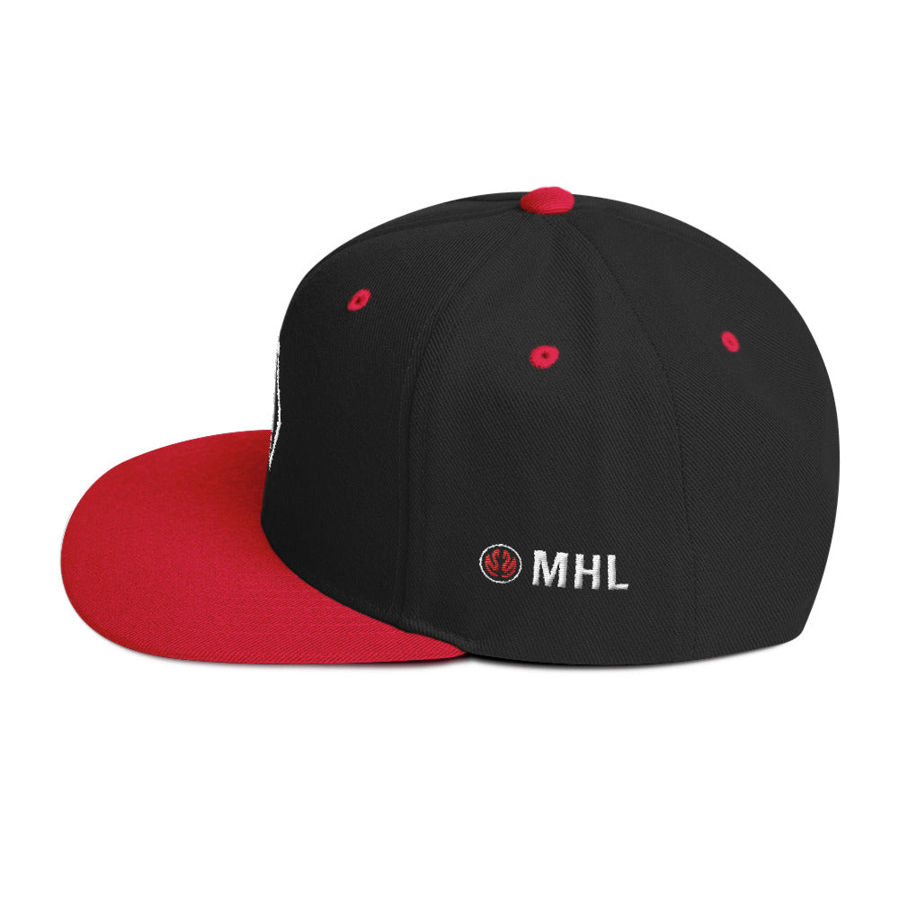 ADHBees Monogram Snapback Hat (Black/Red)