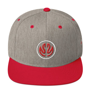MHL Brain Snapback Hat (Red/Heather)