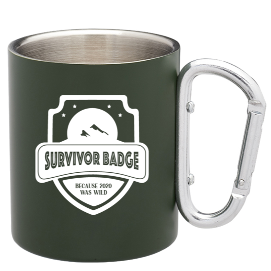 Survivor 2020, Carabiner Steel Camping Mug-SOLD OUT