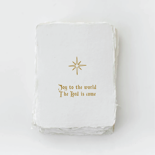 Joy to the World Christmas Holiday Greeting Card