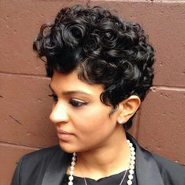 【💋New】Gorgeous Short Curly Human Hair Wig for Black Women