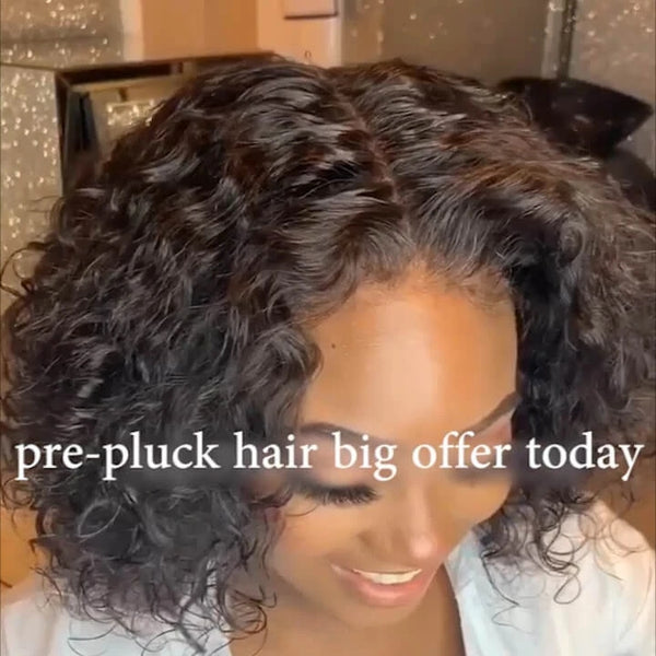 180% Density Fashion Prepluck Bob Wig | Black/Brown Human Wig
