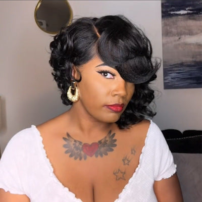 Perfection Super Natural Short Wave Bob 360 Lace  Wig | 100% Human Wig