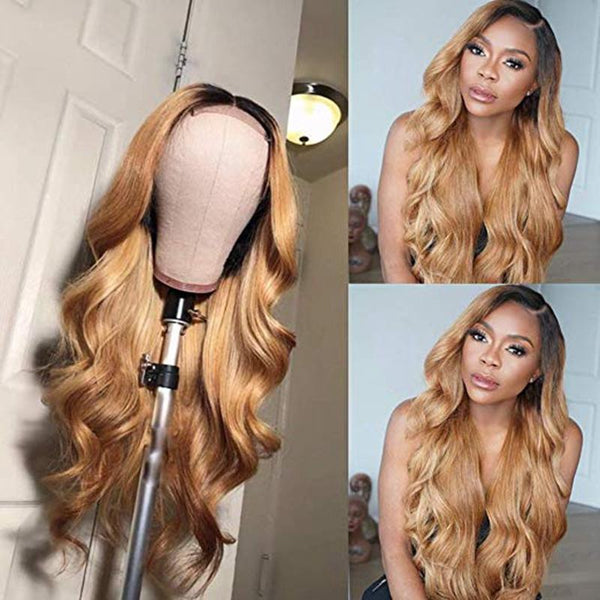 360 Transparent Lace Wave Smooth Wigs | Black /Blonde Baby Human Hair