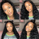 Brazilian Water Wave 360 Lace Frontal Wigs Human Hair Wigs Pre Plucked With Baby Hair