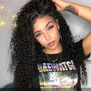 360 Lace Frontal Wigs Kinky Curly 100% Human Hair Wigs For Women