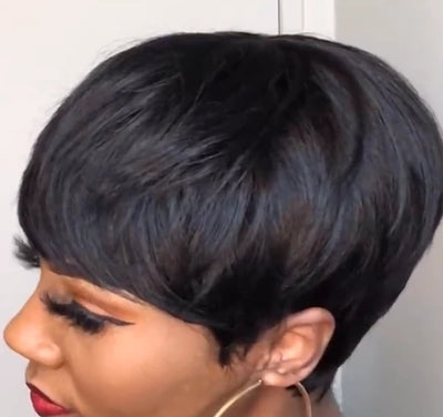 360 LACE WIG SUPER SHORT STRAIGHT WIG | HUMAN HAIR