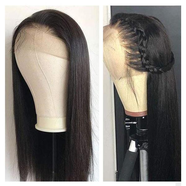 Lace Front Human Hair Wigs | with Baby Hair |  Straight Lace Wig