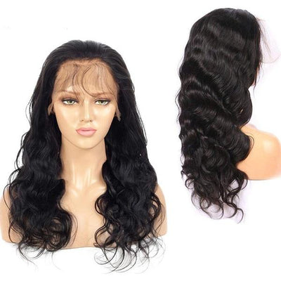 Body Wave Lace Front Human Hair Wigs |Bleached Knots Peruvian Virgin Hair