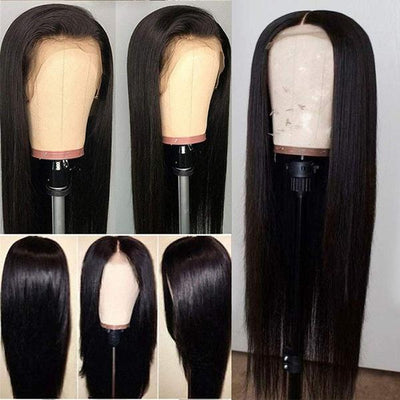 Straight Hair Lace Front Wigs | Baby Hair 150% Density Brazilian Virgin Hair Wigs