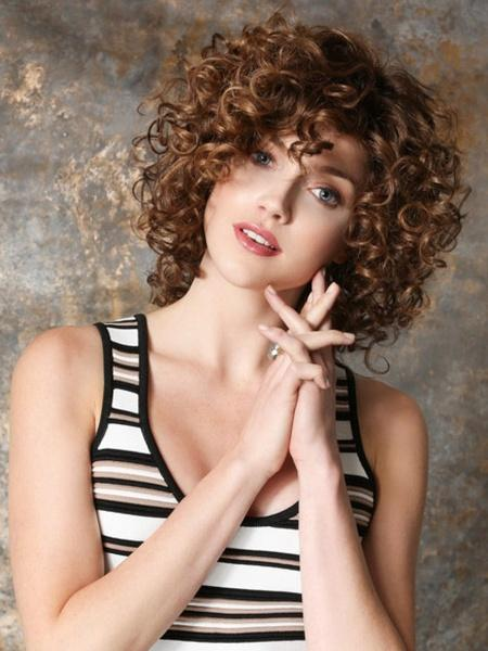 Popular Afro Curly Wavy Hairpieces | Short Brown Hair Replacement Wigs