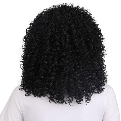 Fashion Black Lace  Wig Long Curly Afro African American Wigs