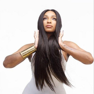 Fashion Straight Human Hair Wig | African Remy Natural Black Wigs
