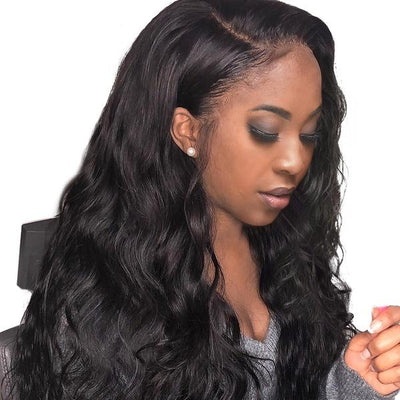 Lace Frontal Wigs Black Body Wave Wig |Lace Front Long Wigs