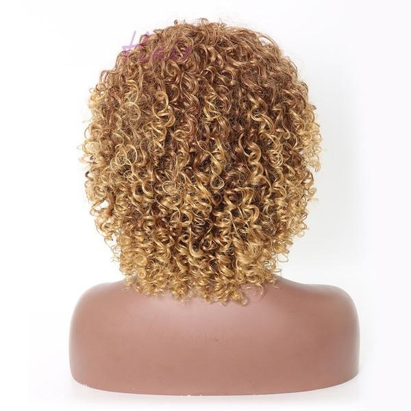 Sexy Lady Afro Wigs|Curly Wig |Soft Healthy Wig (Color:Blonde)