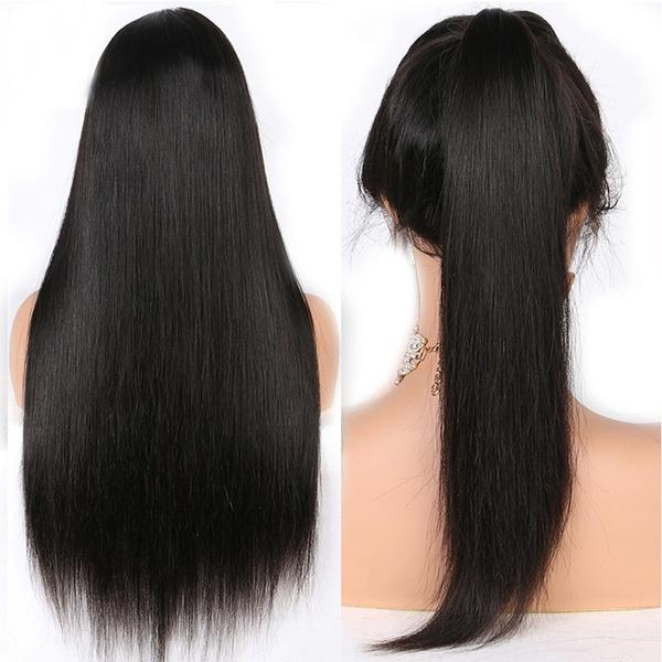360 Lace Front Straight Lifelike Human Hair Wig 150% Density