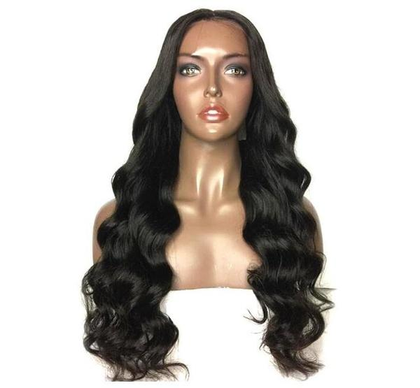 Women's Fashion Black Long Wave Curly Heat Resistant Hair Full Wigs