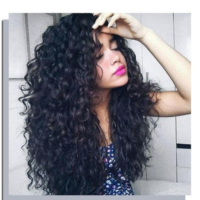 Brazilian Virgin Hair | Wave Human Hair Wig | Long Curly Wavy Wigs