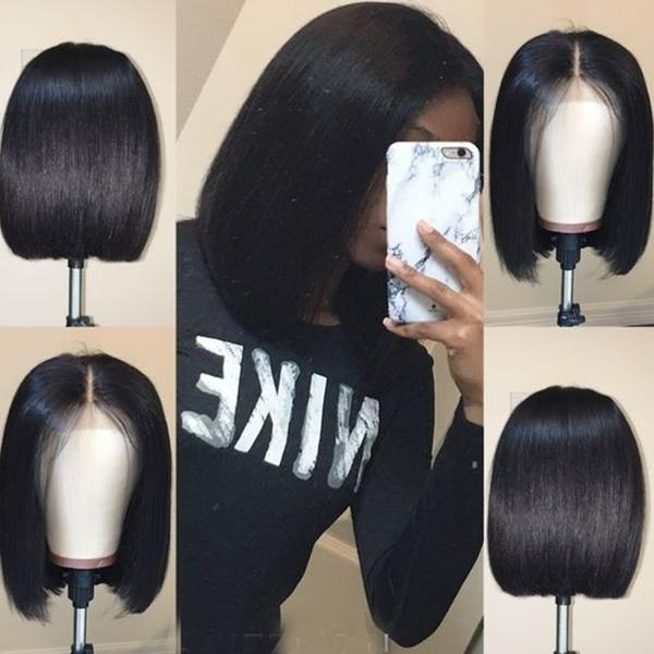 Fashion Bob Style Wig |  Lace Front Wig |  Black Straight Hair Short Bob