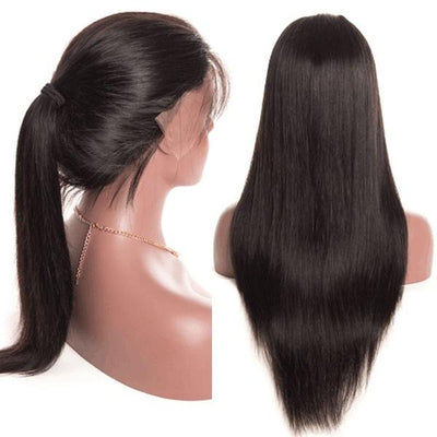 Glueless Lace Front Wigs | Pre Plucked Brazilian Straight Lace Wig
