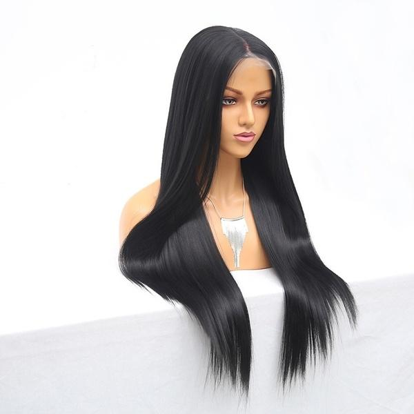 150% Lace Front Human Hair Wigs |  Plucked Remy Brazilian Straight Lace Frontal Wigs
