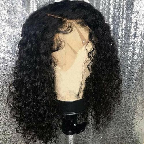 Short Bob Lace Front Deep Curly European Human Hair Wigs
