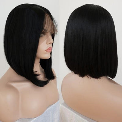 Brazilian Short Wig | Women's Lace Front Bob Natural Straight Heat Wig