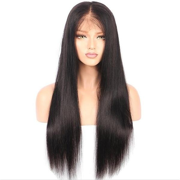 Brazilian Virgin Straight Hair | Density Glueless Free Part Style Lace Front Wig