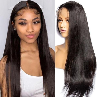 Straight Human Hair Wigs | 13x4 Lace Frontal Wig | 150% Density Hair Wig