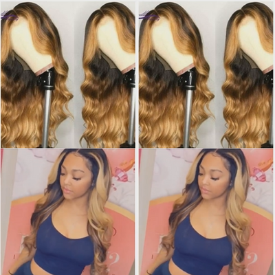 Beautiful 360 Lace Frontal Wig Body Wave Human Hair Wigs