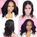 HOT!Body Wave Short Bob Wigs | Brazilian Lace Front Human Hair Wigs