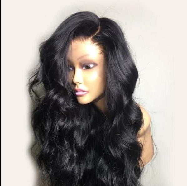 Transparent Full Lace Wig With Human Hair Wig Wave Wig Peruvian Remy Hair