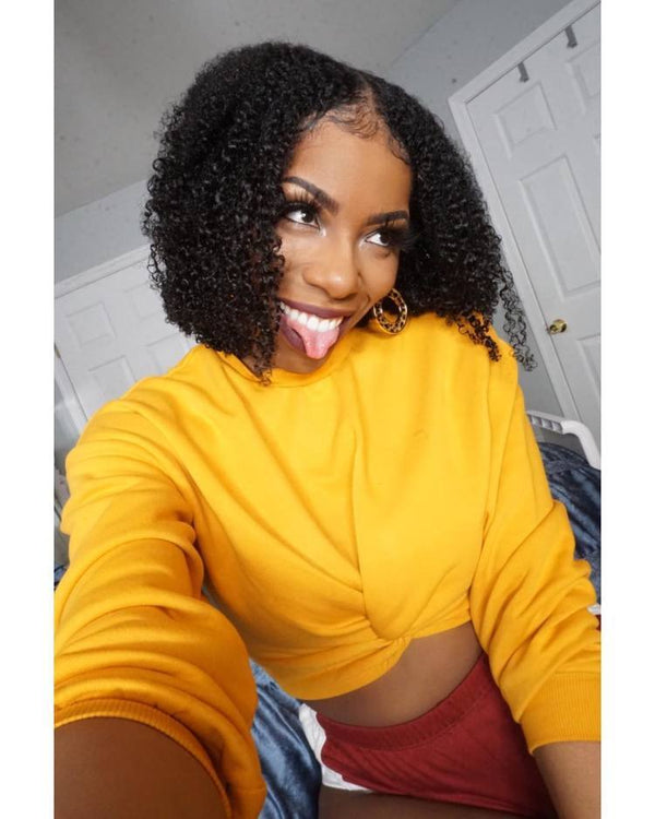 Mongolian Jerry Curl Wig | Lace Front Human Hair Wigs