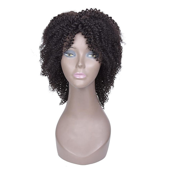 Curly Human Hair Wigs | Women 140% Density Brazilian Short Non-remy Hair Wig