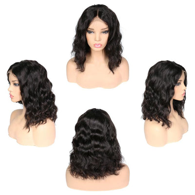 Lace Front Human Hair Wigs | Body Wave Bob Wig | Remy Indian Short Human Hair Wigs