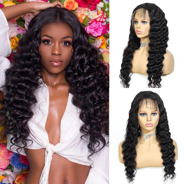360 Lace Loose Deep Wave With Baby Hair For Black Women | Remy Human Hair Wigs