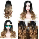 BEAUTY Long Ombre Glueless Hair High Density Wavy Wig | Blonde Cosplay Human Wigs