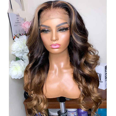 Ombre 360 Lace Frontal Wig Body Wave Human Hair Wigs