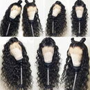 (Hot🔥)Brazilian Water Wave 360 Lace Frontal Wigs Lace Front Human Hair Wigs Pre Plucked With Baby Hair Remy Brazilian Lace Wig