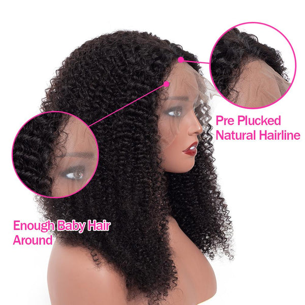 200% Density Kinky Bouncy Curly Lace Frontal Wig| Human Remy Wig