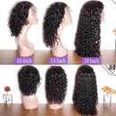 150 Density Brazilian Water Wave 360 Lace Wig Remy Human Hair Pre Plucked With Baby Hair