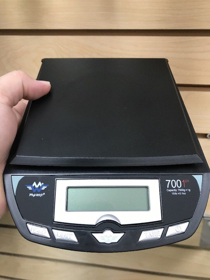 MyWeigh Large Postal Scale 7000 X 1gram Weighs Grams+Ounces+Pounds