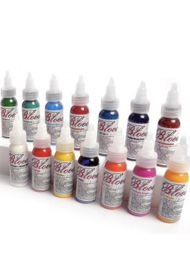 Bloodline Tattoo Ink 14 Color 1 Ounce Skin Candy Professional ...