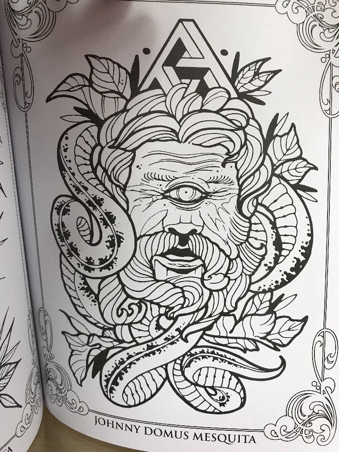 The Coloring Book Project 2 Professional Tattoo Book 400 Pages ...