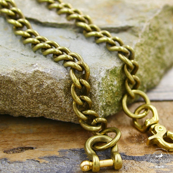 Wallet Chain Smooth Cut in Brass