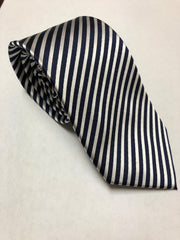 Navy and Silver Pin Stripe (S114)