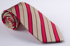 Bright Red and Gold Stripes(H1003)