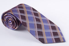 Purple and Lavender, Pink and Gold Plaid (P569)