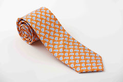 Orange with light blue paisley (P630)