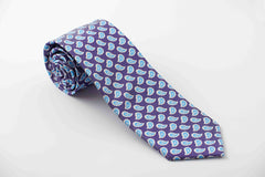 Purple with light blue paisley (P634)
